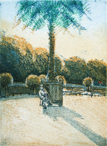 Luxembourg Gardens, evening