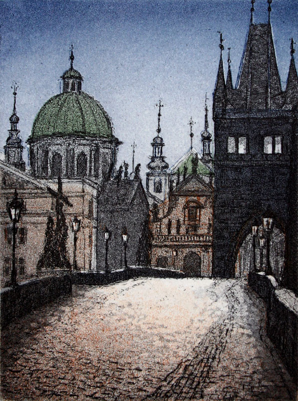 Prague I, Charles Bridge  £50.00 Edition 50  10cms x 8cms