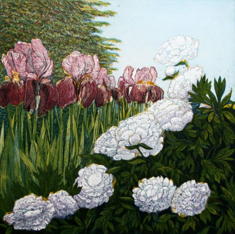 Irises and Peonies