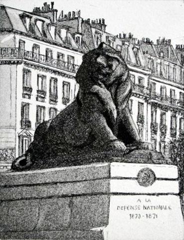 Paris XIV  Le Lion de Belfort